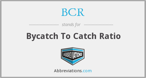 BCR - Bycatch To Catch Ratio