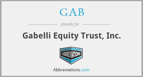 GAB - Gabelli Equity Trust, Inc.