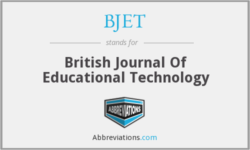What does BJET stand for?