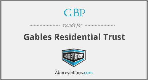 GBP - Gables Residential Trust