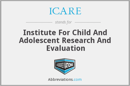ICARE - Institute For Child And Adolescent Research And Evaluation