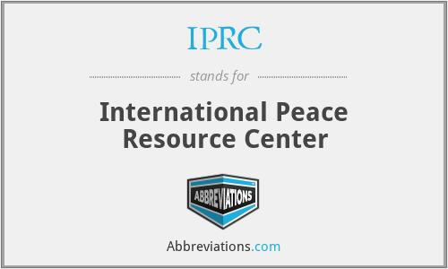 IPRC - International Peace Resource Center
