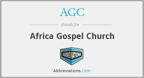 AGC - Africa Gospel Church