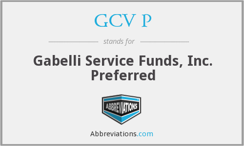 What does GCV P stand for?
