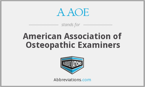 AAOE - American Association of Osteopathic Examiners