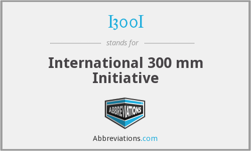 I300I - International 300 mm Initiative