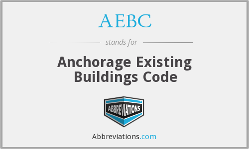 AEBC - Anchorage Existing Buildings Code