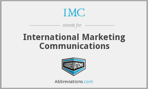IMC - International Marketing Communications