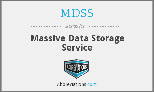 MDSS - Massive Data Storage Service