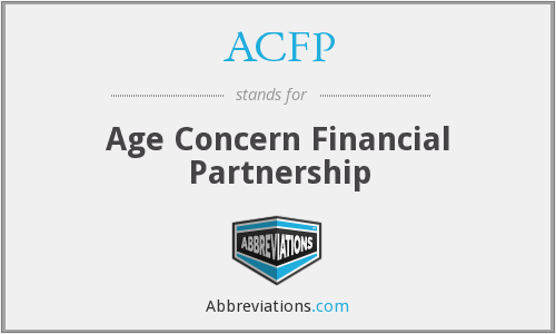 ACFP - Age Concern Financial Partnership