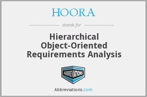 HOORA - Hierarchical Object-Oriented Requirements Analysis