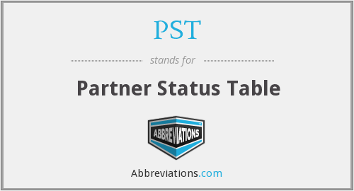 PST - Partner Status Table