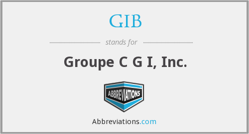 GIB - Groupe C G I, Inc.