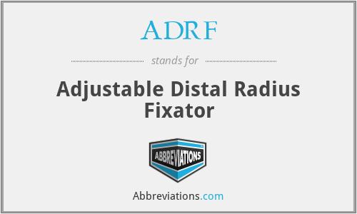 ADRF - Adjustable Distal Radius Fixator