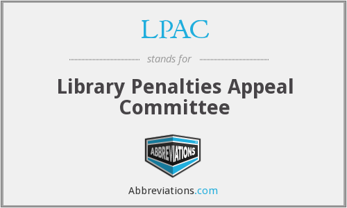 LPAC - Library Penalties Appeal Committee