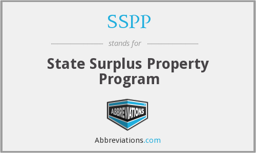 SSPP - State Surplus Property Program