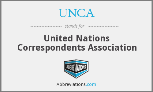 UNCA - United Nations Correspondents Association