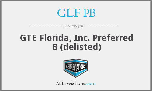 What does GLF PB stand for?