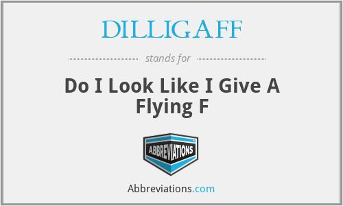 DILLIGAFF - Do I Look Like I Give A Flying F