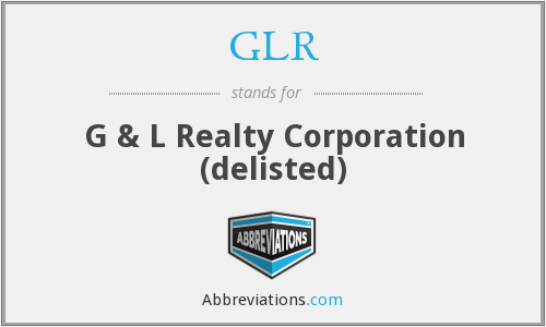 What does GLR stand for?