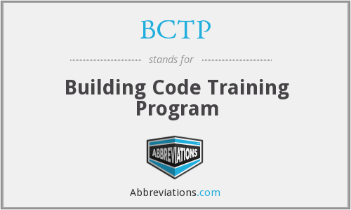 BCTP - Building Code Training Program