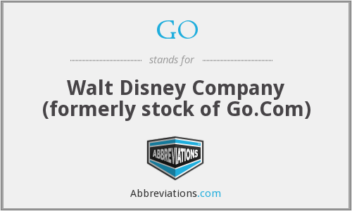 GO - Walt Disney Company (formerly stock of Go.Com)
