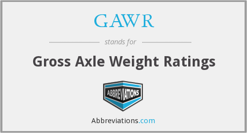 GAWR - Gross Axle Weight Ratings