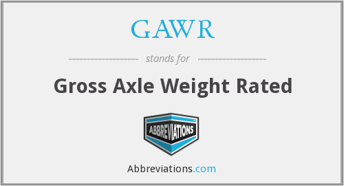 GAWR - Gross Axle Weight Rated
