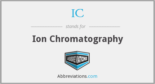 IC - Ion Chromatography