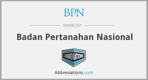 BPN - Badan Pertanahan Nasional