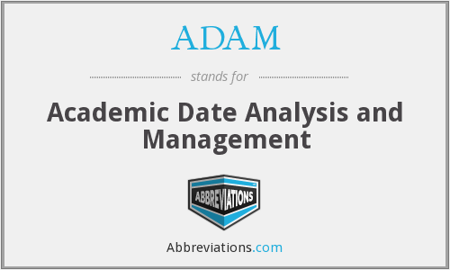 ADAM - Academic Date Analysis and Management