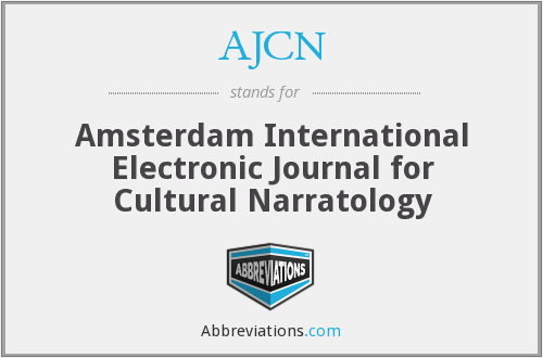 AJCN - Amsterdam International Electronic Journal for Cultural Narratology
