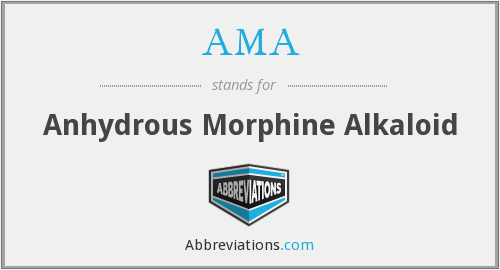 AMA - Anhydrous Morphine Alkaloid