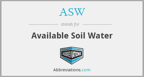 ASW - Available Soil Water