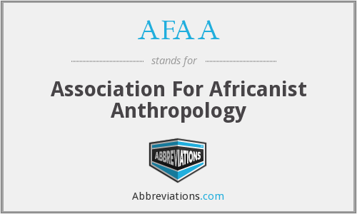 AFAA - Association For Africanist Anthropology