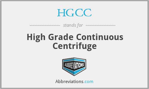 HGCC - High Grade Continuous Centrifuge