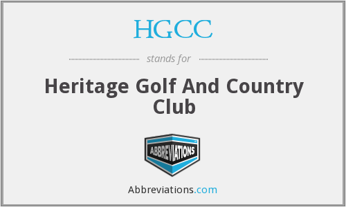 HGCC - Heritage Golf And Country Club