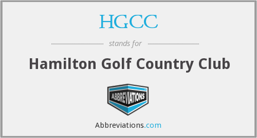 HGCC - Hamilton Golf Country Club