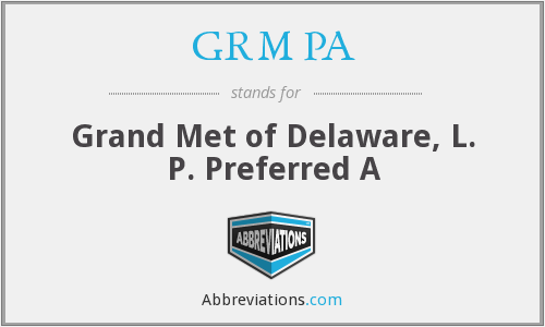 What does GRM PA stand for?