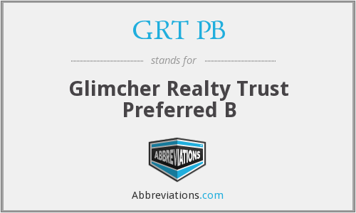 GRT PB - Glimcher Realty Trust Preferred B