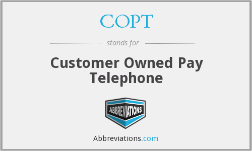 COPT - Customer Owned Pay Telephone