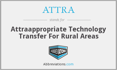 ATTRA - Attraappropriate Technology Transfer For Rural Areas