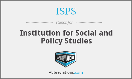 ISPS - Institution for Social and Policy Studies