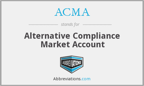 ACMA - Alternative Compliance Market Account
