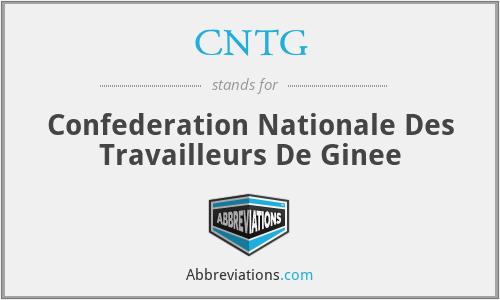 CNTG - Confederation Nationale Des Travailleurs De Ginee