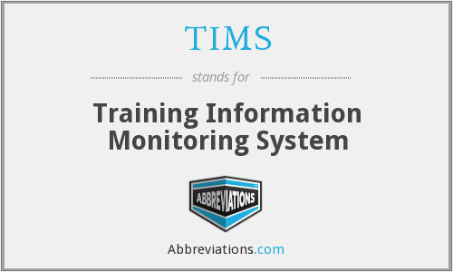 TIMS - Training Information Monitoring System