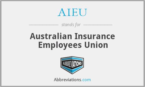 AIEU - Australian Insurance Employees Union