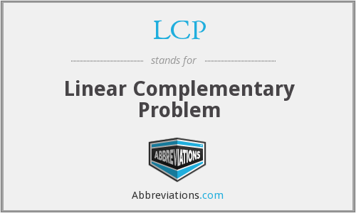 LCP - Linear Complementary Problem