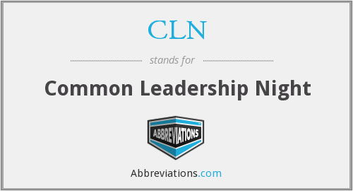CLN - Common Leadership Night