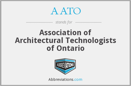 AATO - Association of Architectural Technologists of Ontario